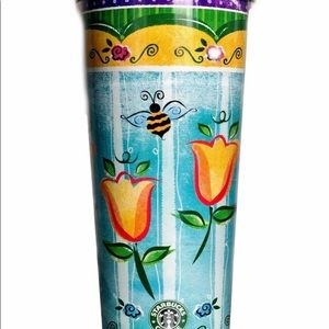 RARE 2002 Starbucks 16oz Tulip Coffee Tea Tumbler